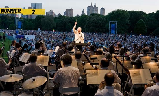 new york philharmonic in central park number 2 Os 10 Maiores Shows da História