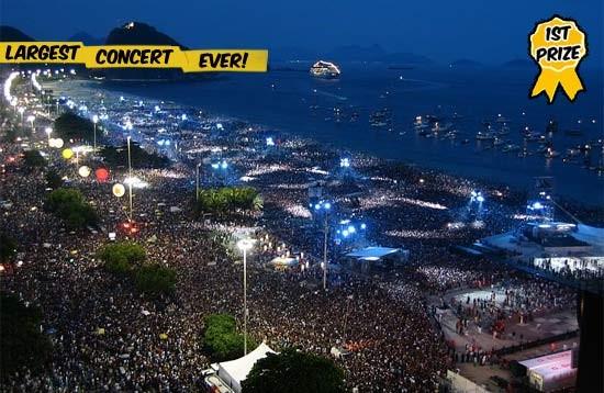 rod stewart at copacabana beach number 1 Os 10 Maiores Shows da História