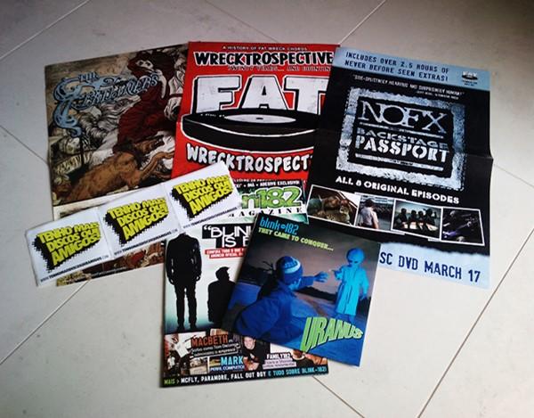 Promoção vinil do Blink-182, pôsters NOFX, Flatliners e mais