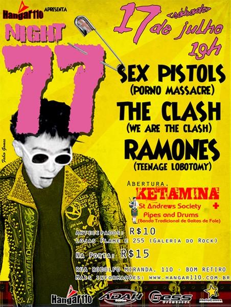 Festival Night 77 (Ketamina, St Andrews Society Pipes, Porno Massacre, We Are The Clash, Teenage Lobotomy)