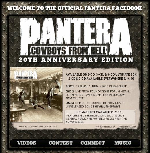 Pantera Anniversary Edition