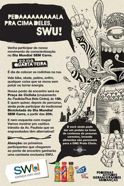 Flashmob SWU Dia Mundial Sem Carro