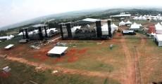 Estrutura SWU - Fazenda Maeda - Imagem Aérea dos Palcos