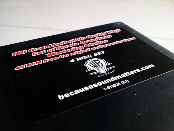 Promoção LP Quádruplo do Metallica (The Black Album em 4 discos de vinil)