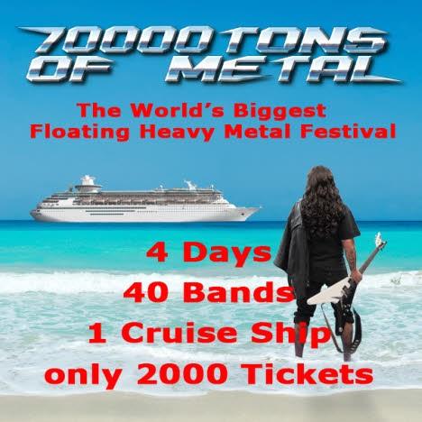 70000Tons Of Metal festival de 40 bandas de metal num cruzeiro