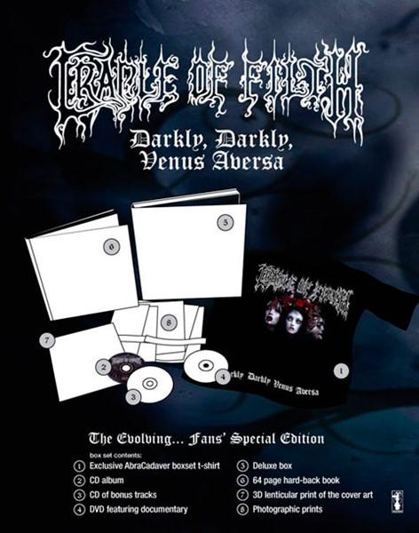 Box especial do novo álbum do Cradle Of Filth