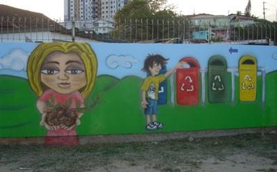 COMCAP - Grafite de reciclagem do lixo