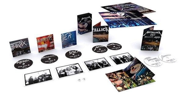 Caixa de DVDs do The Big Four (Metallica, Megadeth, Anthrax, Slayer)