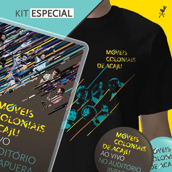 Movéis Colonias de Acaju - Ao Vivo no Auditório Ibirapuera (Kit)
