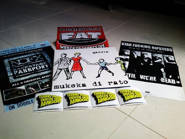 Promoção LP Branco do Mukeka Di Rato - Gaiola, NOFX, Star Fucking Hipsters, Fat-Wreck