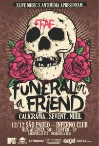 Funeral for a Friend em São Paulo