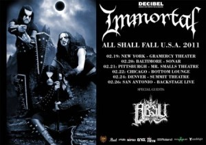 Immortal anuncia turnê norte-americana