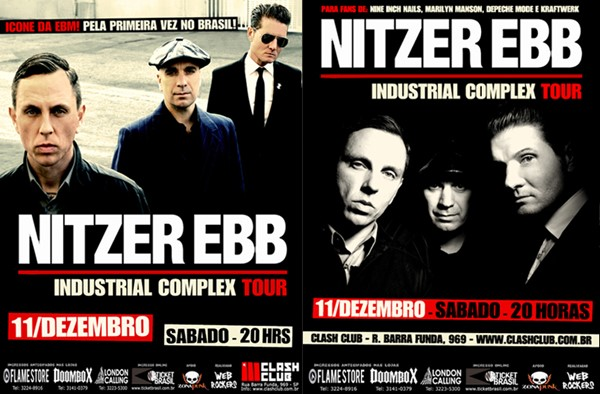 Promoção Ingressos Nitzer Ebb no Brasil (São Paulo)