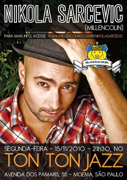 Show solo de Nikola Sarcevic (Millencolin) em São Paulo