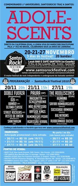 Cartaz SantosRock! Festival 2010