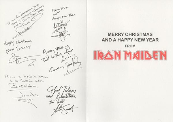 Cartão de Natal do Iron Maiden 3