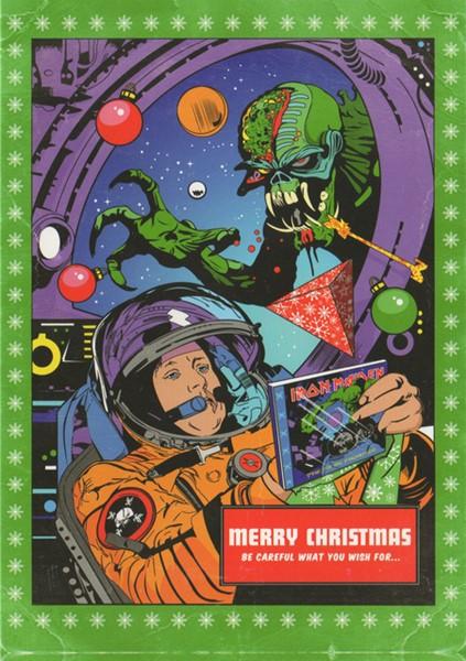 Cartão de Natal do Iron Maiden