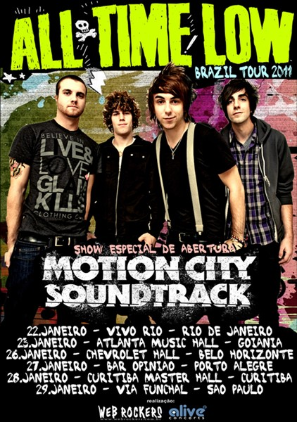 All Time Low e Motion City Soundtrack, turnê brasileira 2011