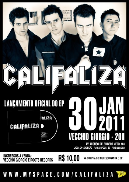 Flyer lançamento Califaliza