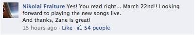 Nikolai Fraiture confirma a data de lançamento do álbum