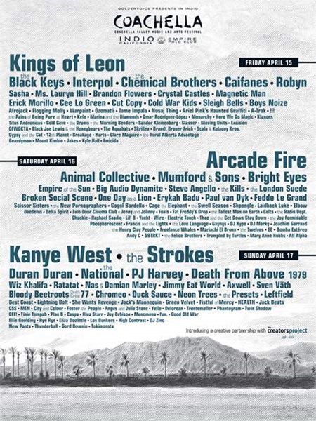 Coachella 2011 Line-up