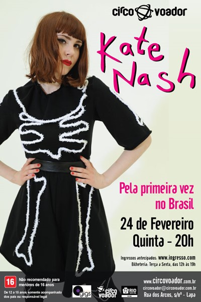 Kate Nash se apresenta no Rio de Janeiro