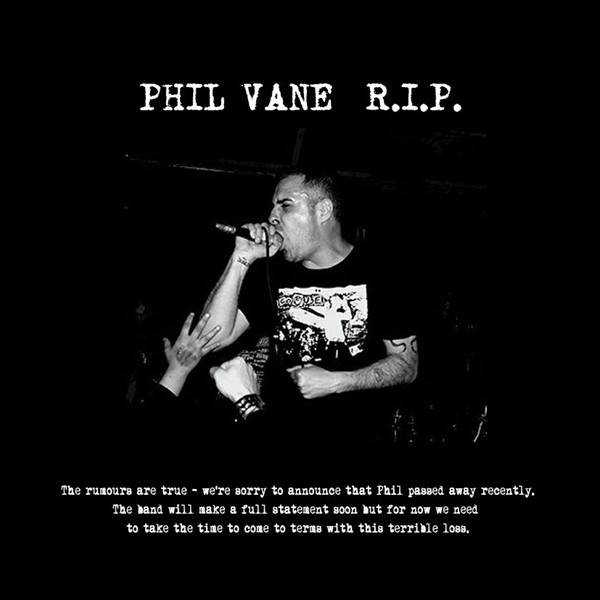 Phil Vane (Extreme Noise Terror, Napalm Death) faleceu