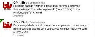 Bis Entretenimento fala da estrutura do show do Iron Maiden em Belém