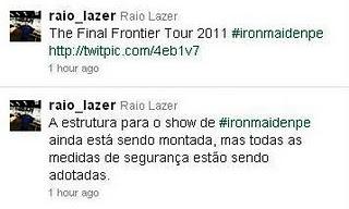 Raio Lazer fala da estrutura do show do Iron Maiden em Recife