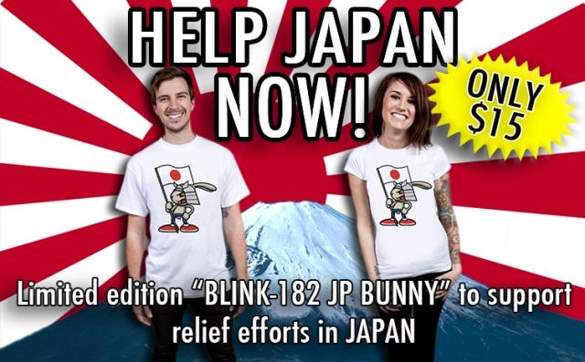 Blink-182 lança camisas para arrecadar fundos para o Japão
