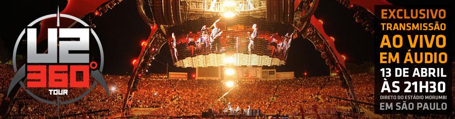 Ouça o show do U2 em casa pelo Sonora Live