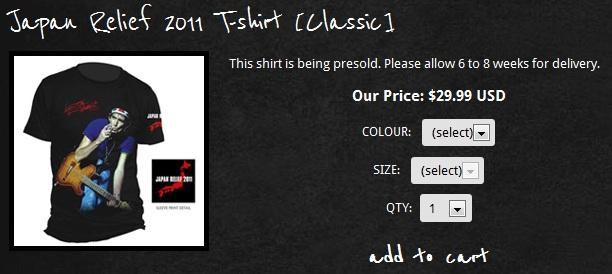 Keith Richards faz camiseta beneficente para o Japão