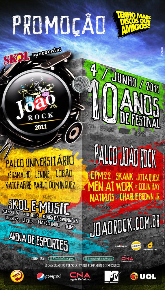 Promoção João Rock e Tenho Mais Discos Que Amigos!