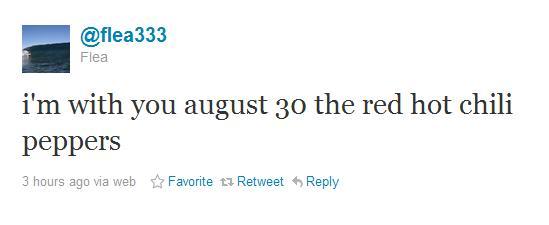 Flea tuita sobre novo disco do Red Hot Chili Peppers