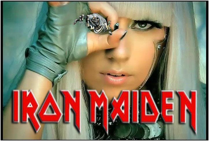 Lady Gaga vai ao show do Iron Maiden