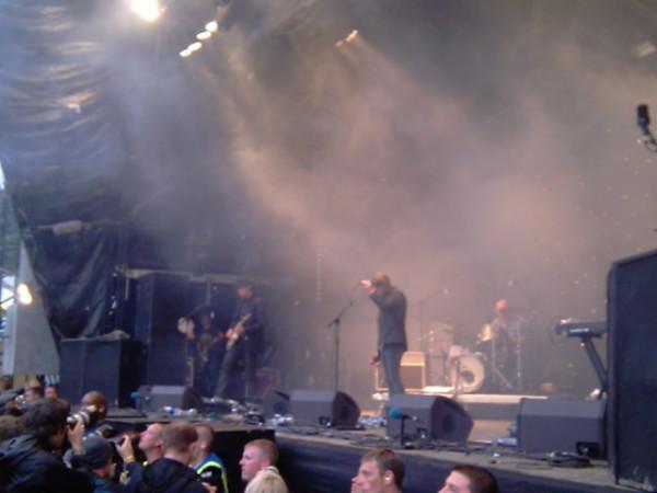 Radiohead no Park Stage no Glastonbury 2011