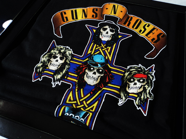 Guns N' Roses - Appetite For Destruction em kit com vinil amarelo e camiseta