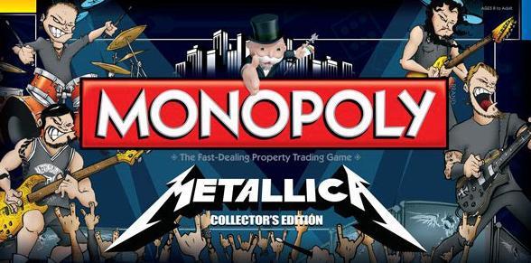 Metallica lançará sua versão de Monopoly