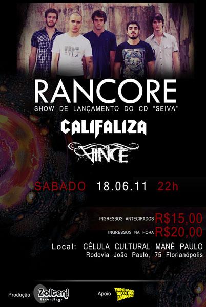 Rancore, Califaliza e Vince em Florianópolis