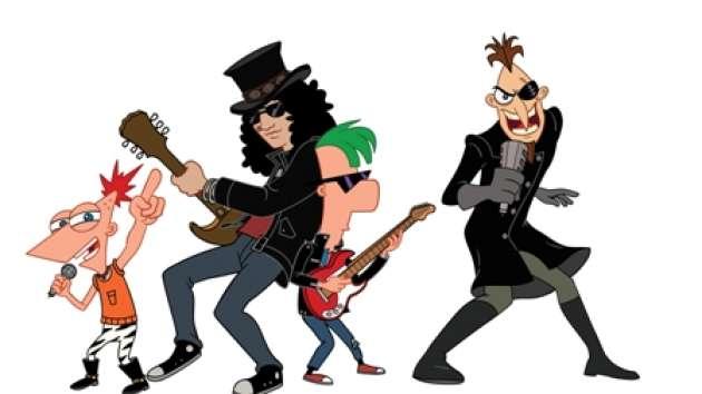 Slash participa do desenho Phineas e Ferb