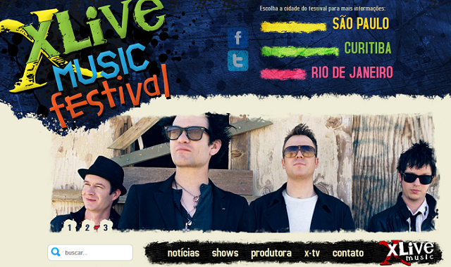 Novo site do XLive Music Festival