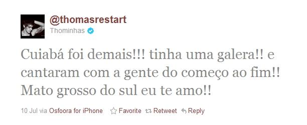 Tweet Thomas Restart