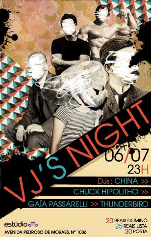 VJ's Night no Estudio Emme