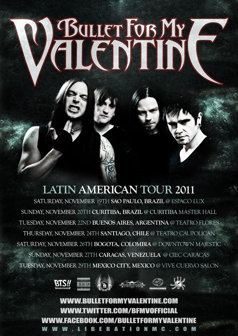 Bullet For My Valentine faz dois shows no Brasil
