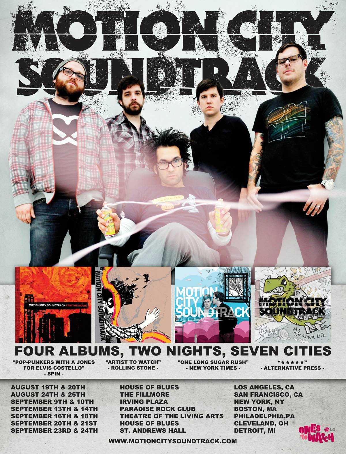 """Motion City Soundtrack em """"Four Albums, Two Nights, Seven Cities"""""""