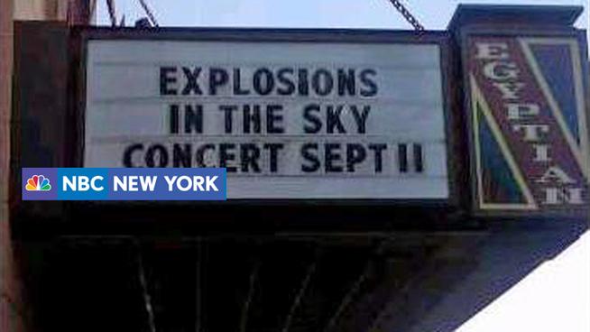 Letreiro de show do Explosions In The Sky causa polêmica