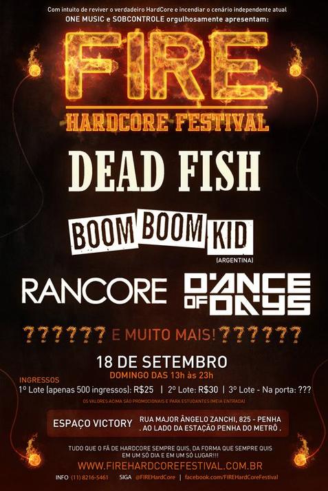 Fire Hardcore Festival em SP
