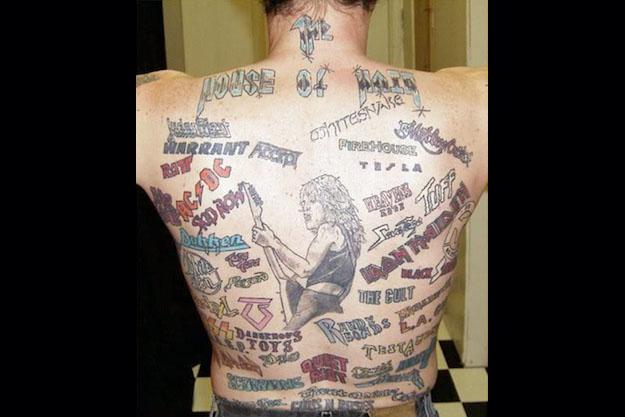 As 10 piores tatuagens de rock