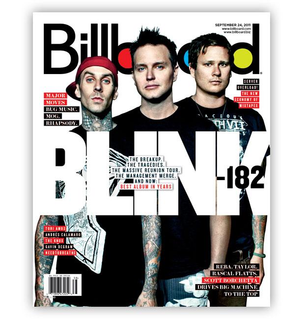 Blink-182 na capa da Billboard