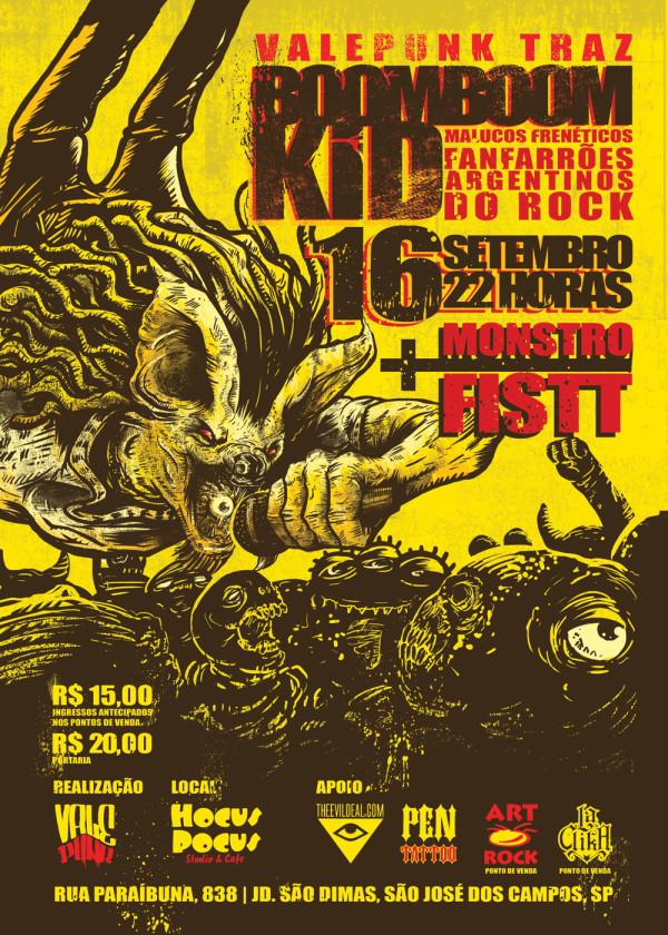 Promoção do Boom Boom Kid em São José dos Campos